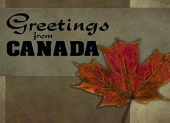 Greetings from canada cards canada maple leaf cards greetings from canada cards m4hsunfo